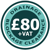 Fixed Price of £80.00 for blocked drains